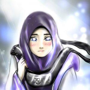 Cartoon Hinata Muslim Muslimah Naruto