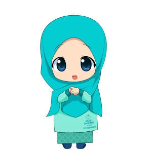 Kartun Chibi Muslimah Comel dan Lucu