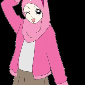Doodle Muslimah Comel