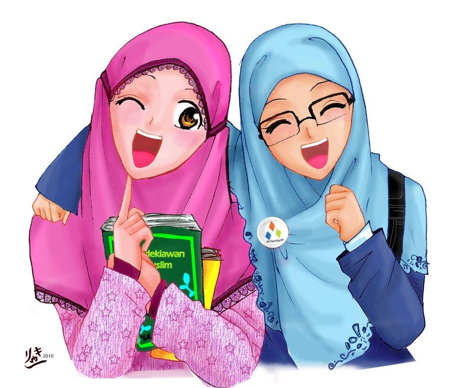 Gambar Kartun Muslimah Comel Dan Lucu  Azhan.co