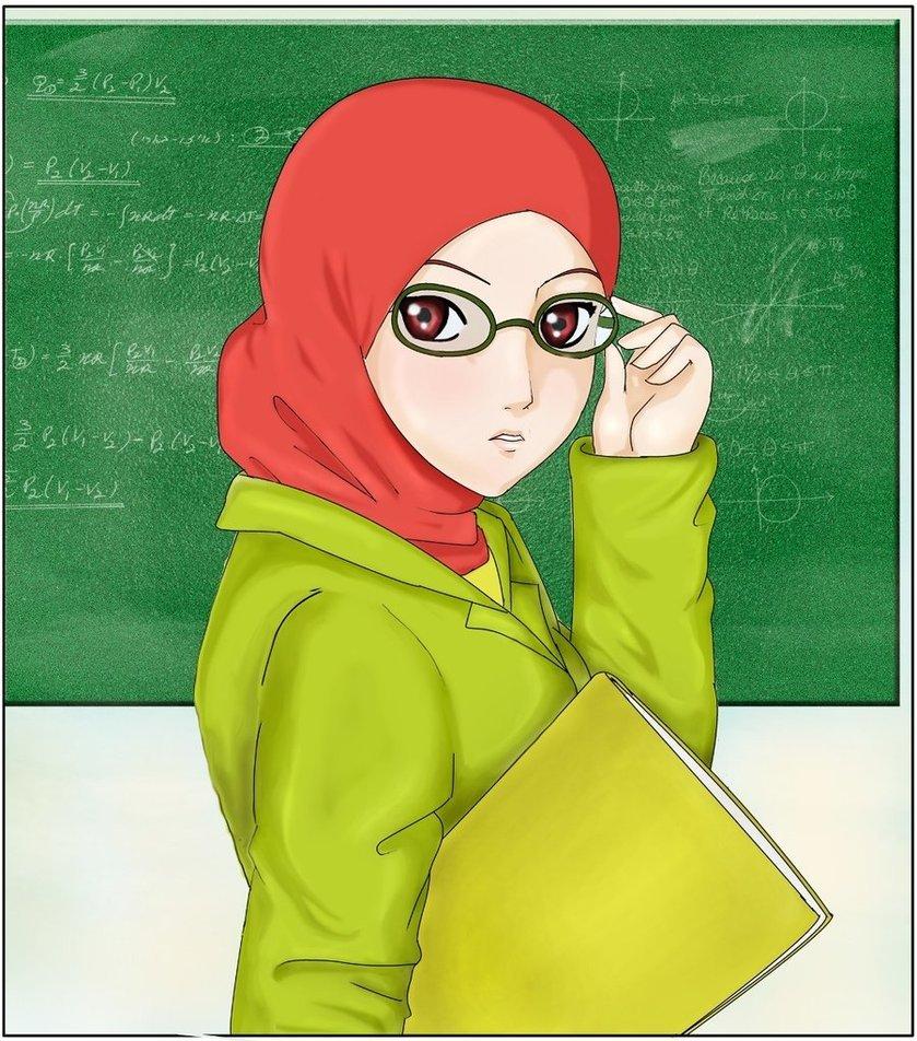 Gambar Kartun Muslimah Guru Ustazah  Azhan.co