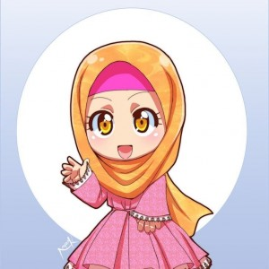 Kartun Chibi Muslimah Comel