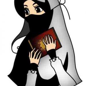 Kartun Muslimah Berkerudung Solehah