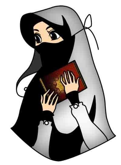 Kartun Muslimah Berkerudung Solehah Azhan Co