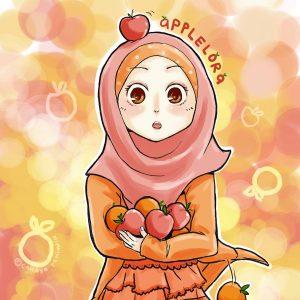 Koleksi Kartun Comel Muslimah Bertudung Azhan Co
