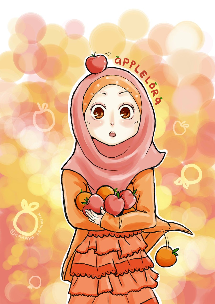 Gambar Kartun Muslimah Bercadar Hitam Putih Medsos Kini