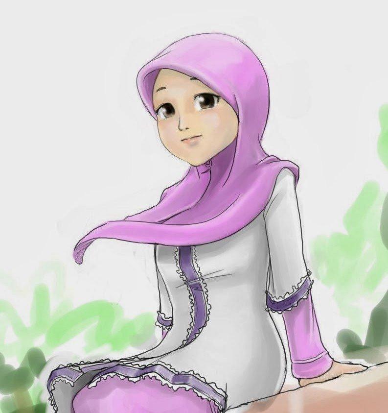 Kartun Muslimah Cute Comel