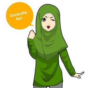 Muslimah Baju Hijau Gambateh