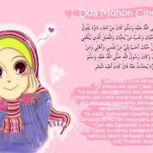 Wallpaper Muslimah Doa Cinta Allah