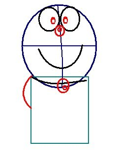step 3 - how to draw doraemon