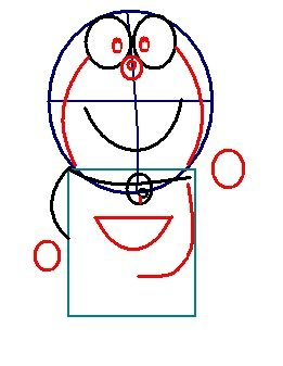 step 4 - how to draw doraemon
