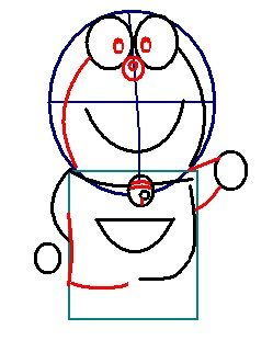 step 5 - how to draw doraemon