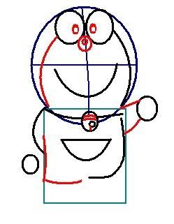 step 5 - how to draw doraemon