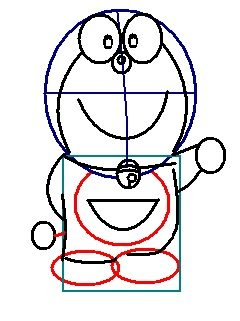 step 6 - how to draw doraemon