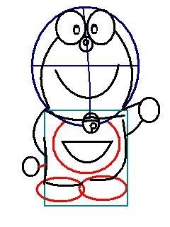 step 6 - how to draw doraemon