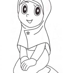 Coloring Pages Anak Muslimah