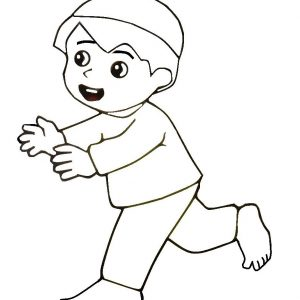 Coloring Pages Muslim Kids