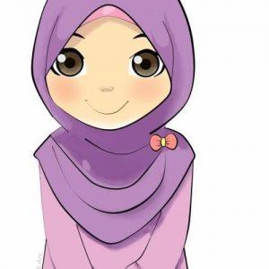 Doodle Awek Muslimah Comel