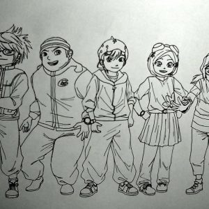 Doodle BoBoiBoy and Friends by nanoyaro