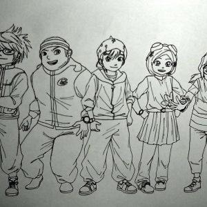 Doodle BoBoiBoy and Friends by nanoyaro