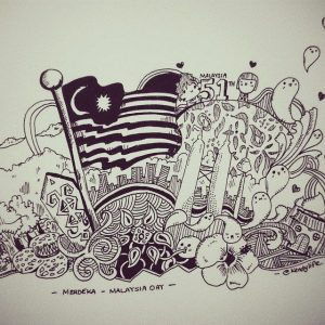 Doodle Merdeka Malaysia Day