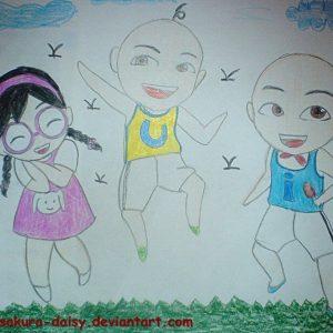 Doodle Upin Ipin dan Mei Mei by Sakura-Daisy