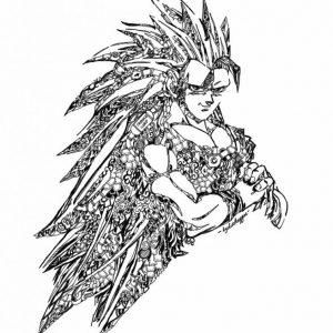 Dragon Ball (Son Goku Super Saiyan) Doodle