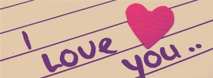 I Love You Valentines Facebook Cover