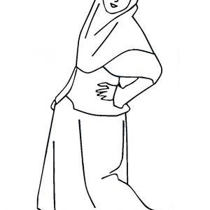 Mewarna Gambar Gadis Bertudung