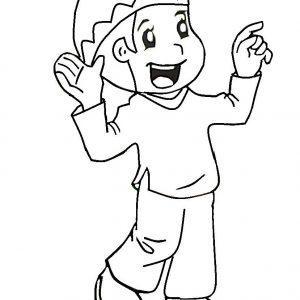 Mewarna Gambar Kartun Kids Muslim