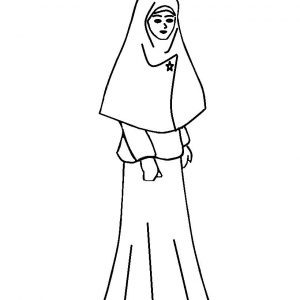 Mewarna Gambar Kartun Muslimah