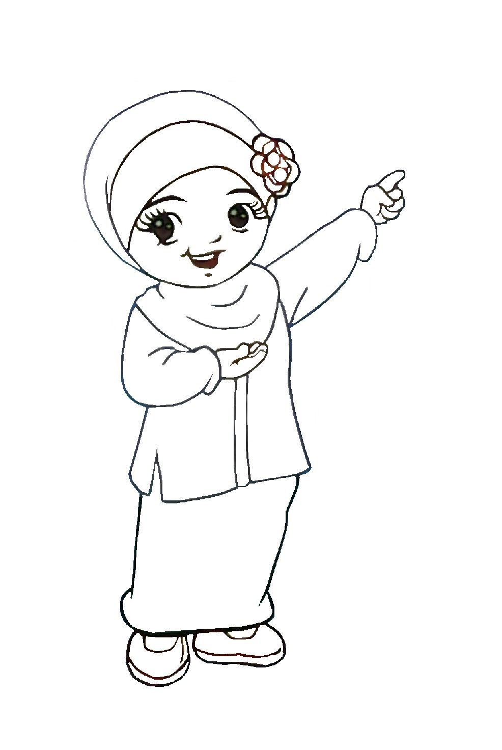 Mewarna Gambar Kartun Ustazah Muslimah