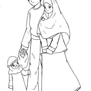 Mewarnai Gambar Contoh Keluarga Sakinah
