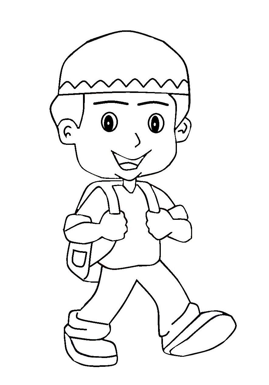 Gambar Kartun Anak Soleh Dan Solehah