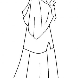 Mewarnai Gambar Kartun Anak Muslimat