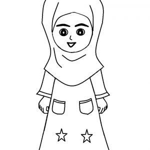 Mewarnai Gambar Kartun Anak Pakai Jubah