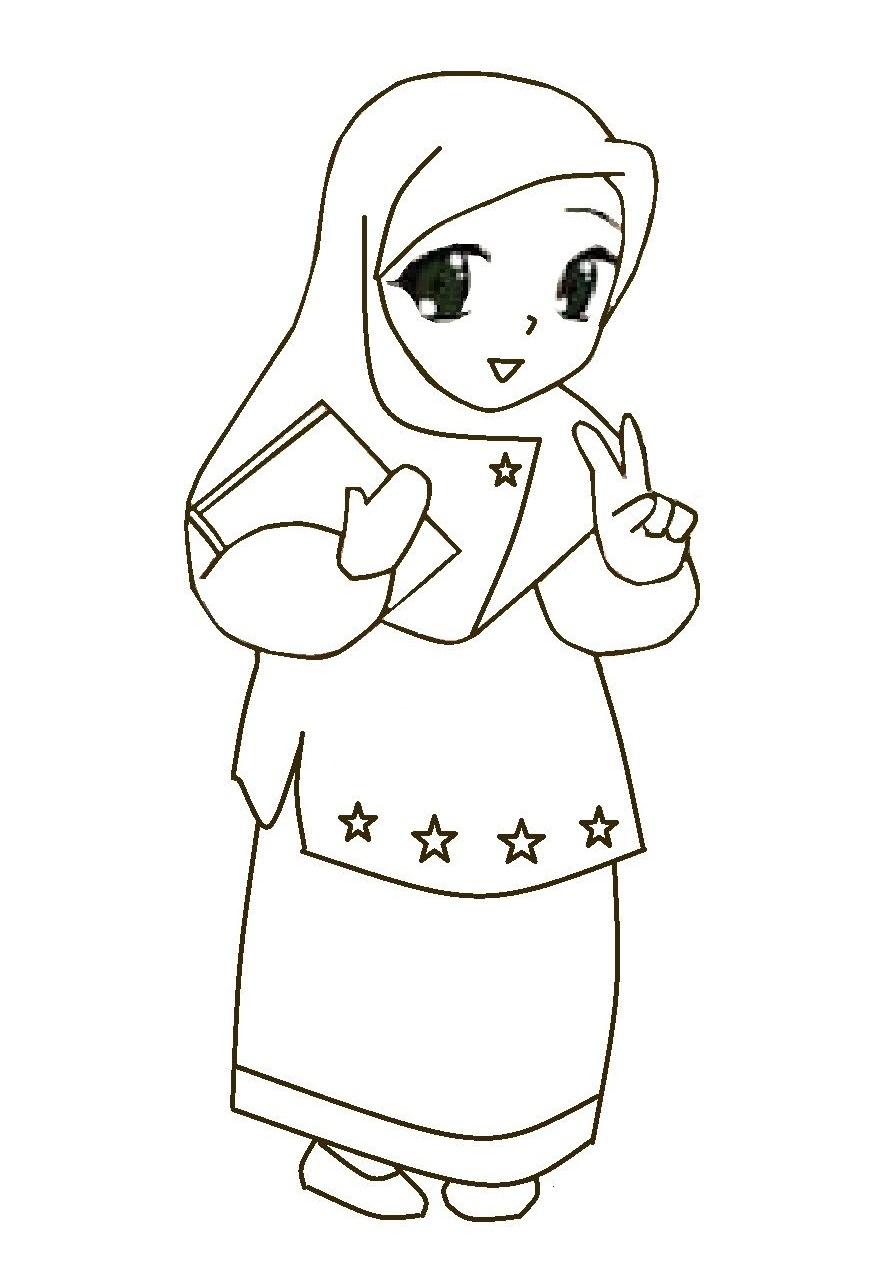Gambar Kartun Muslimah Instagram Photos Videos Gambar Warna di Rebanas  Rebanas