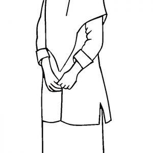 Mewarnai Gambar Kartun Perempuan Solehah