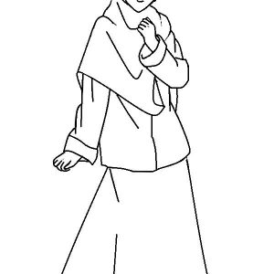 Mewarnai Gambar Kartun Remaja Muslimah