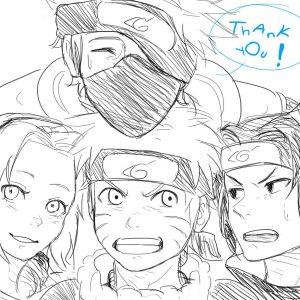 Naruto Doodle (Plus Kakashi, Sasuke, Sakura) by chi-tokiyo