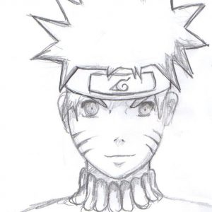 Naruto Uzumaki Doodle Sketch Drawing by ladyhollow626