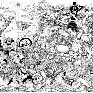 One Piece Anime Doodle