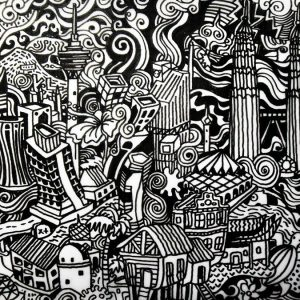 Project Raksasa Doodles - Bandaraya Kuala Lumpur