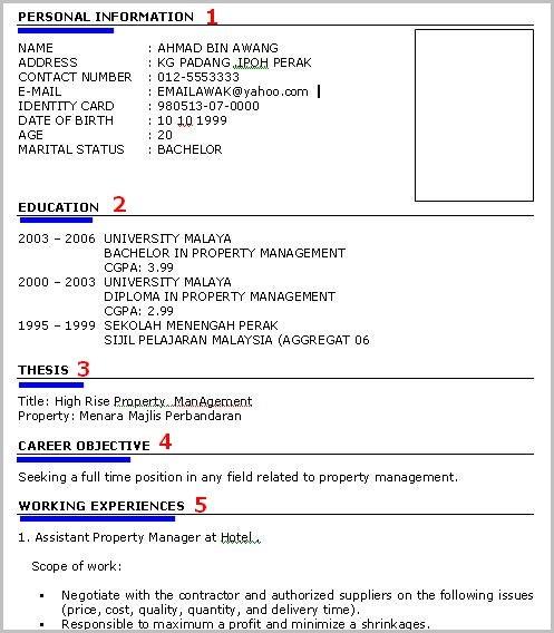 panduan buat resume