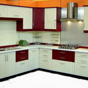 Dual Colour Kitchen Cabinets