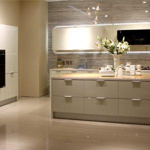 MDF Matte PU Painting Kitchen Cabinet Pantry Design