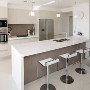 White Modern Elegant Kitchen Bar