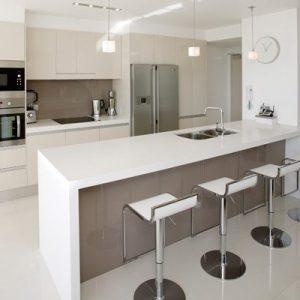 White Modern Elegant Kitchen Bar