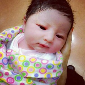 Foto Anak Che Ta - Aaisyah Dhia Rana - Ketika Baru Lahir