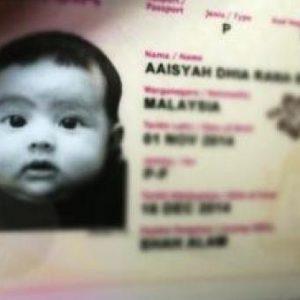 Gambar Passport Comel Aaishah Dhia Rana